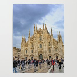 Busy Piazza Duomo Poster