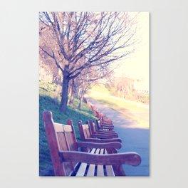 Edinburgh Princes Garden Canvas Print