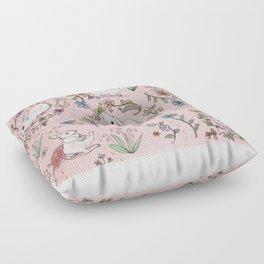 Bashful Bunnies Floor Pillow
