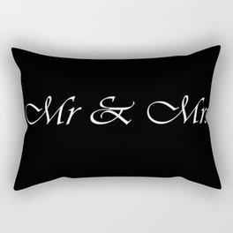 Mrs & Mrs Monogram Cursive Rectangular Pillow