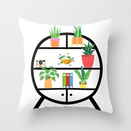 Plant Shelfie Throw Pillow