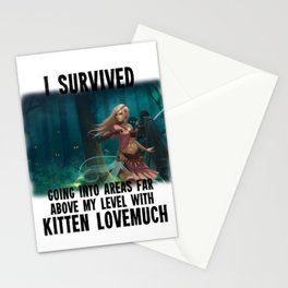 I survived going into areas far about my level - AM Sohma Stationery Cards