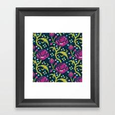 Pixel Flora Framed Art Print