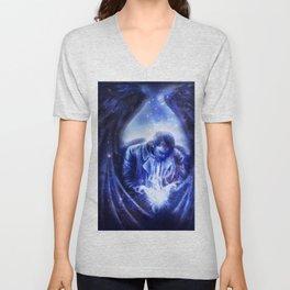 Angel in Blue Unisex V-Neck