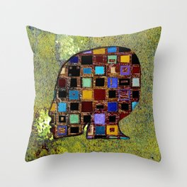 living in a box (global)3.version Throw Pillow