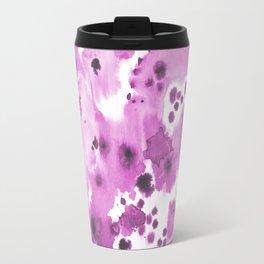 Lilla - watercolor paint inky spots abstract painting trendy decor Travel Mug