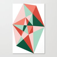 gem Canvas Prints featuring Gem by lizzy gray kitchens