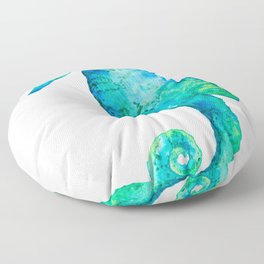 Rudy the seahorse Floor Pillow