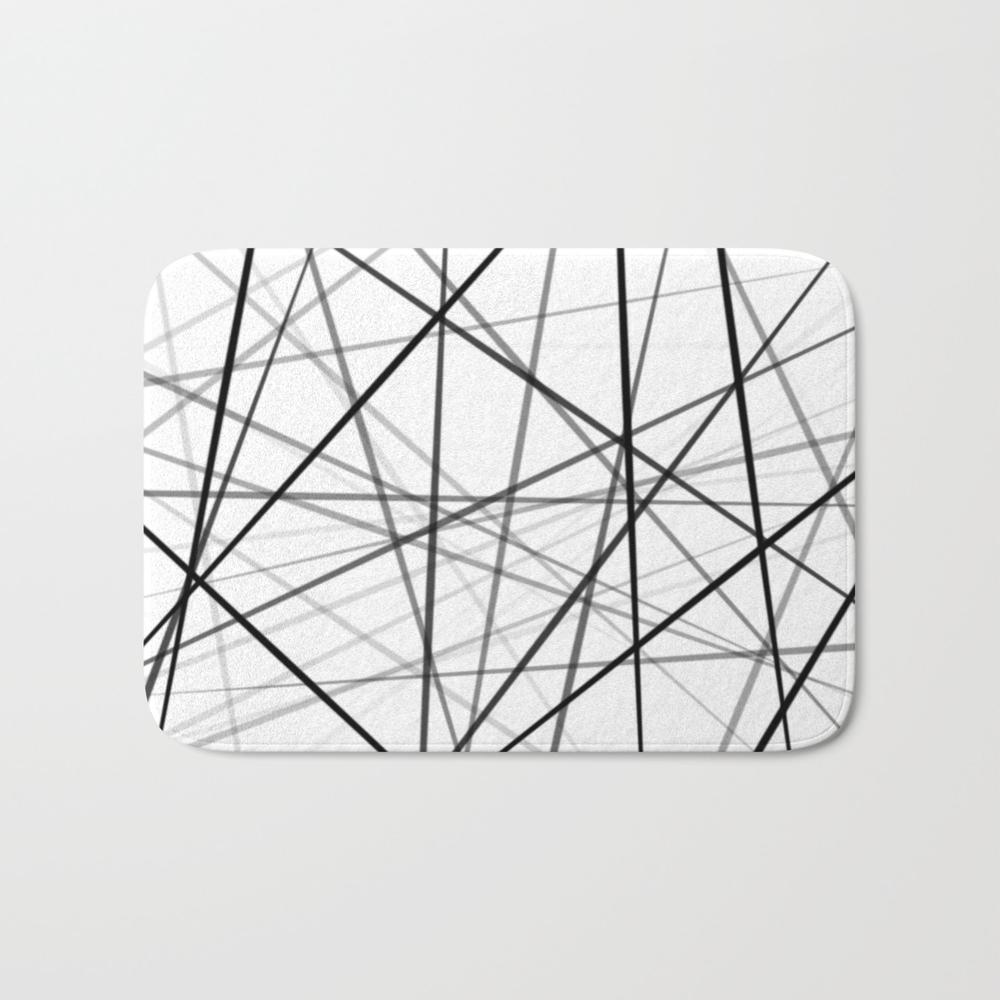 Shades Of Lines Bath Mat by Comingdeerstudios BMT8705492