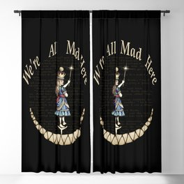 We're All Mad Here - Alice In Wonderland Blackout Curtain