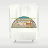library Shower Curtains featuring Dream Library by Jet McLeod