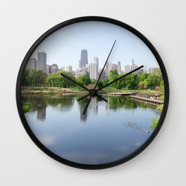 Chicago in May Wall Clock