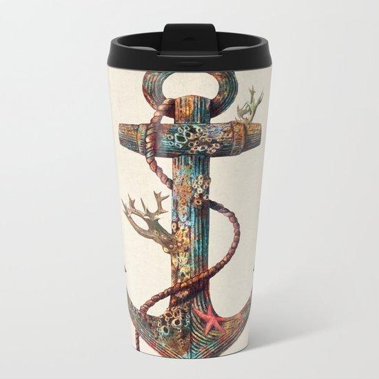 Lost at Sea - colour option Metal Travel Mug