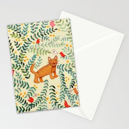 minou jaune (this yellow cat) Stationery Cards