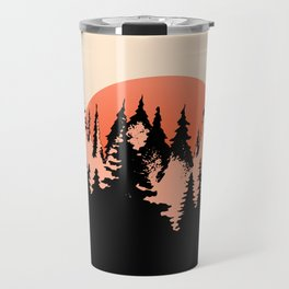 forest sunset Travel Mug