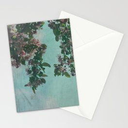 Sweet Crabapple Blossom Overhang Stationery Cards