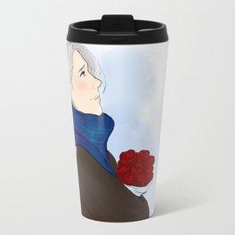 victor with roses - yuri on ice Travel Mug