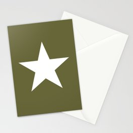 Army Star Stationery Cards