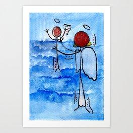 #cagsticks ''The birth of Jesus'' Art Print