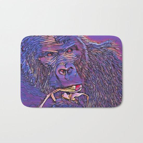 Feeding Gorilla Bath Mat