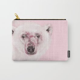 Polar Bear in Pink Carry-All Pouch