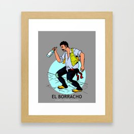 El Borracho Mexican Loteria Card Framed Art Print