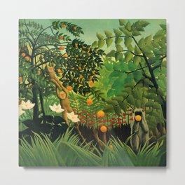 "Henri Rousseau ""Monkeys in the jungle - Exotic landscape"" Metal Print"