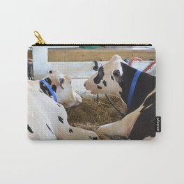Pair Of Black And White Cows 2 Carry-All Pouch
