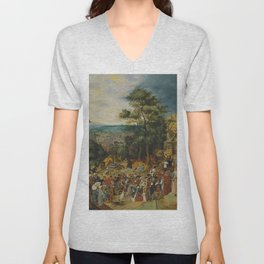 """Pieter Brueghel II (The Younger) """"The Road to Calvary"""" Unisex V-Neck"""