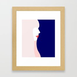 Joni Mitchell (minimal, blue) Framed Art Print