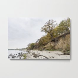 Along The Cliff On Baltic Sea Metal Print