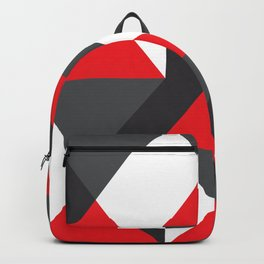 Geometric Pattern #20 (red triangles) Backpack