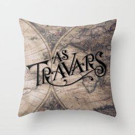 As Travars - To travel (map) Throw Pillow