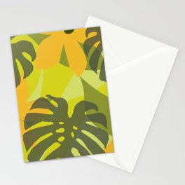 Monstera Great with Flowers Stationery Cards