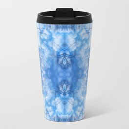 212 - Blue Sky and clouds abstract pattern Travel Mug