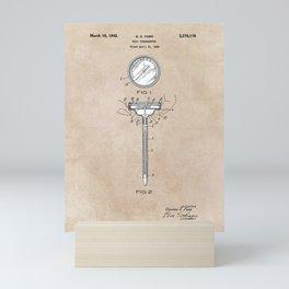 patent art Meat Termometer 1939 Mini Art Print