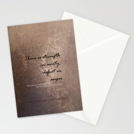 Strength in Unity - Defeat in Anger - Maori Wisdom - metalic Stationery Cards