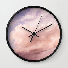 Perfect Pink Summer Sky Nature Photography Wall Clock
