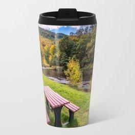 Snowdonia River Autumn Travel Mug