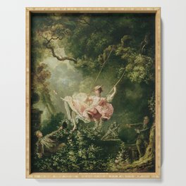 Jean-Honore Fragonard - The swing Serving Tray