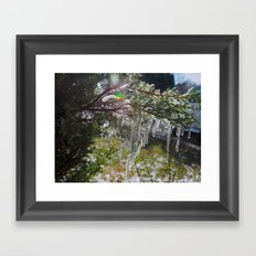 Icicle Lights Framed Art Print