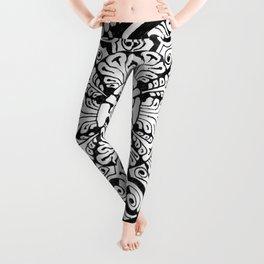 Mandala Monochrome Leggings