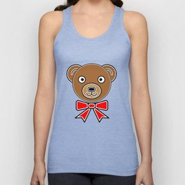 Funny bear face Unisex Tank Top