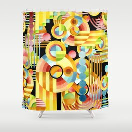 Art Deco Maximalist Shower Curtain