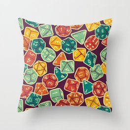 Dice Addict Throw Pillow
