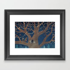 Put the lights on the tree Framed Art Print