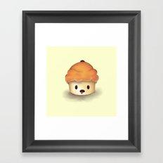 Carrot Cupcake Framed Art Print