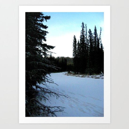Wintertime in WaterValley Art Print