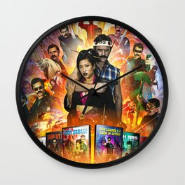 COLLATERAL DAMAGE - The Complete Don Damage Collection Poster Art Wall Clock