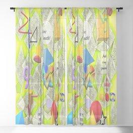 I Love Math Sheer Curtain